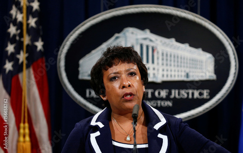 U S  Attorney General Lynch speaks about Texas police