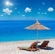 Summer sunshiny beach.