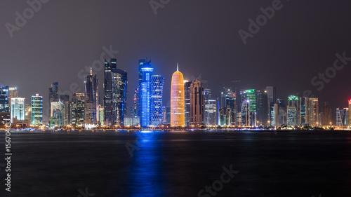 Poster Moyen-Orient Doha skyline