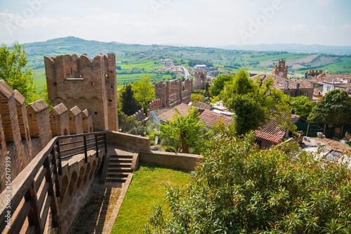 Poster de jardin Brun profond Castelllo di Gradara, the Gradara castle in Gradara