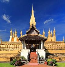 Haw Wai-Prayer Gate-E.side Wall-first Level PhaThat Luang Stupa. Vientiane-Laos. 4851