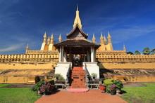 Haw Wai-Prayer Gate-E.side Wall-first Level PhaThat Luang Stupa. Vientiane-Laos. 4852