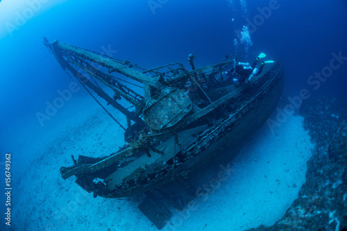 Foto  Diving on the wreck Fortunal Vis Island.