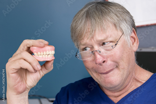 Fotografie, Obraz  Man and his dentures