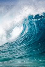 Big Breaking Ocean Wave On The...