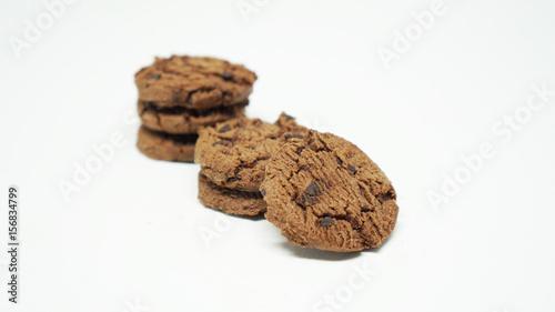 Tuinposter Koekjes Chocolate chips cookies