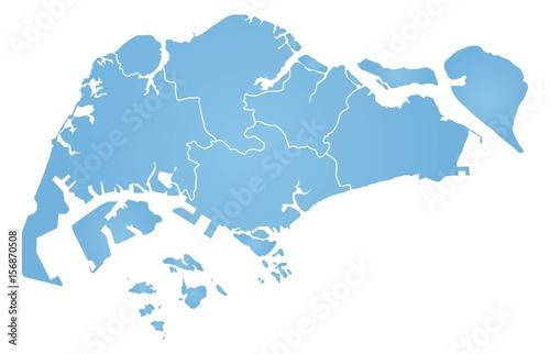 Obraz na plátně Map of Singapore