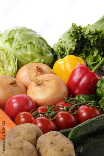Fotobehang Groenten 野菜の集合イメージ Vegetable set