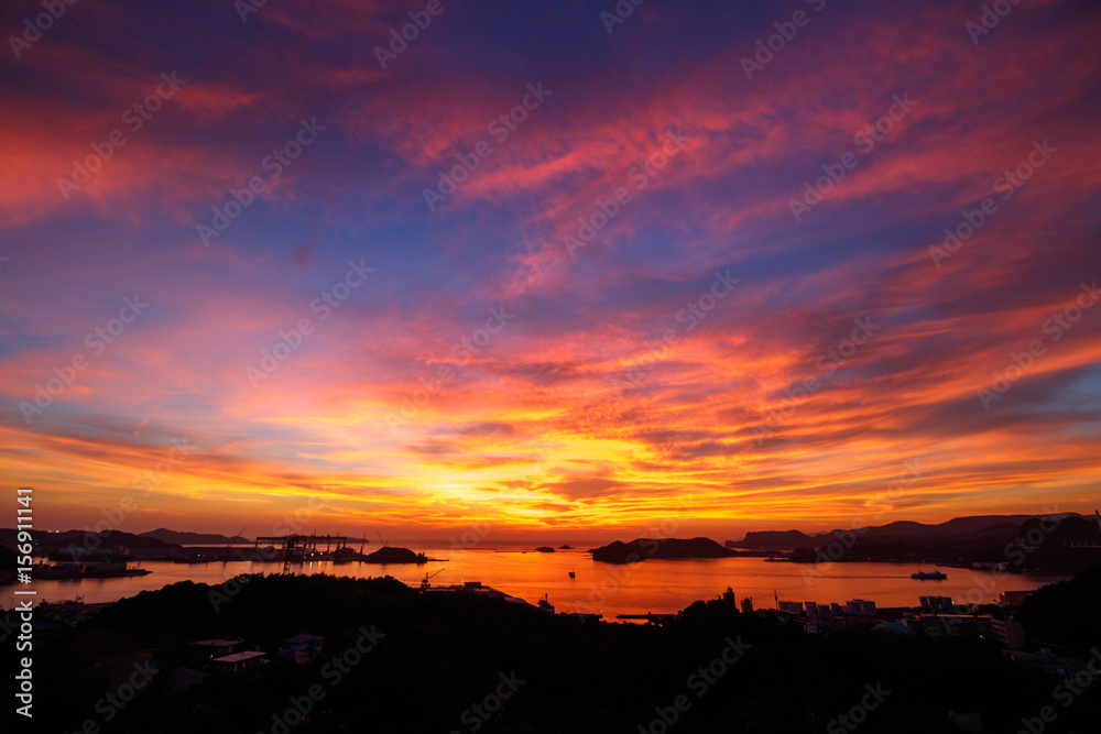 Fototapety, obrazy: 長崎の夕陽