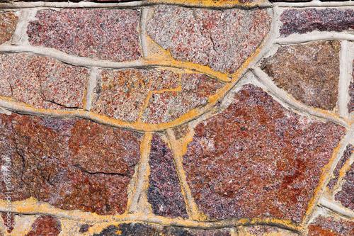 In de dag Stenen Old stone wall rustic texture background