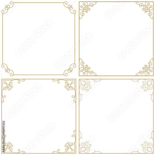 gold frame border thin set vintage premium gold frame border divider for your design menu website menu