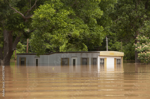 Mobile home park flooded following heavy rains in Richmond