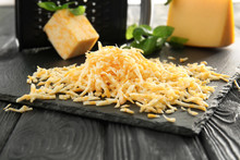 Slate Plate With Grated Cheese...
