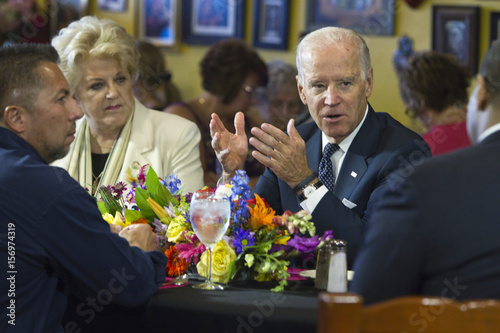 Us Vice President Joe Biden Speaks With Politicians And Business