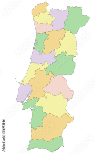Portugal Highly Detailed Editable Political Map Buy This Stock