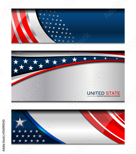 USA American flag background for Independence Day and other events, Vector illus Canvas Print