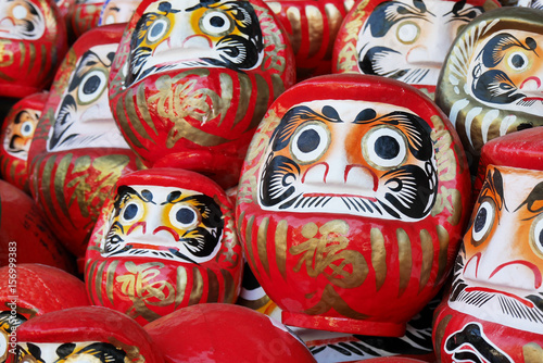 Daruma good luck doll in Japan