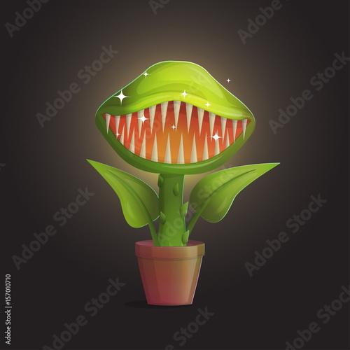 Fotografia Venus flytrap flower carnivorous plant illustration