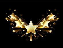 Sparkling Gold Five Stars