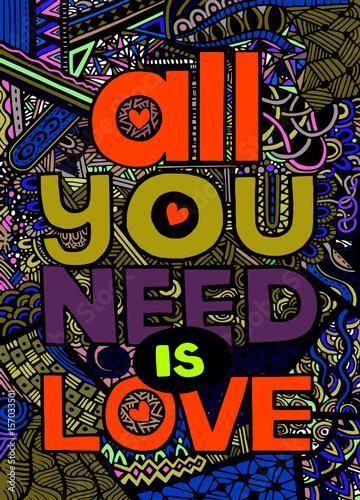 wszystko-czego-potrzebujesz-to-milosc-inspirujacy-cytat-recznie-rysowane