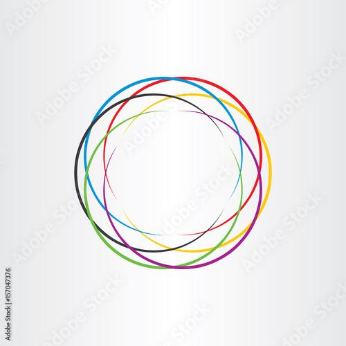 Plakat połączenie koło logo kolorowe ikony tło wektor