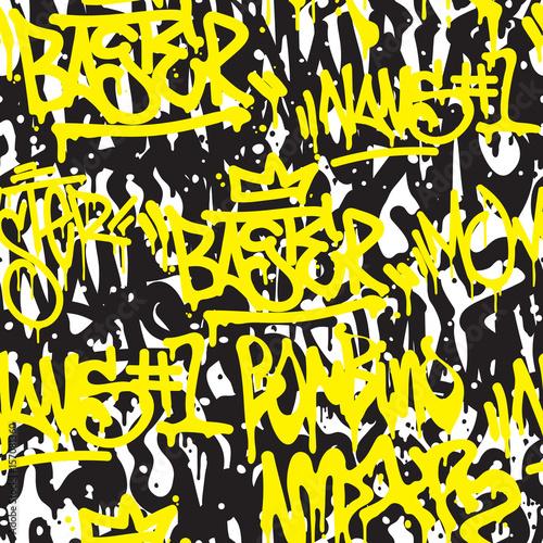 Plakat Jednolite wzór graffiti