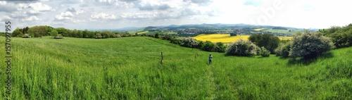 Fotografie, Obraz  Dreiländerblick Panorama am Kottmar in Eibau, Oberlausitz, Sachsen, 2017