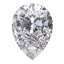 3D Illustration Pear Diamond Stone