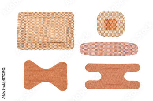 Fotografie, Tablou Assortment of adhesive bandages