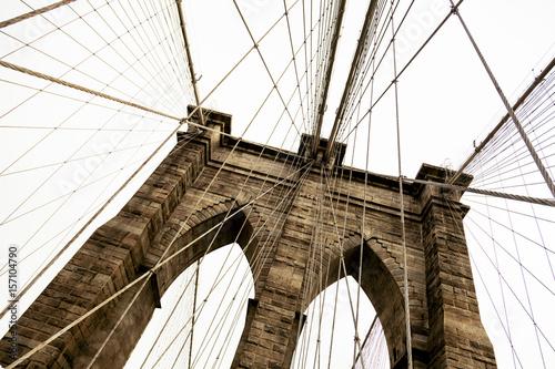 Fototapety, obrazy: Brooklyn Bridge Detail