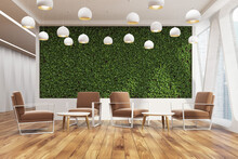 Office Cafe, Grass Wall, Brown...