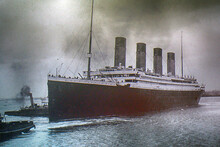 Titanic On An Old Photo, Belfa...