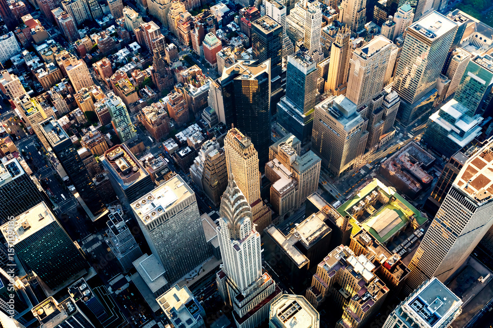 Fototapety, obrazy: Aerial view of the Midtown Manhattan NY