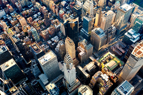 Fotografía  Aerial view of the Midtown Manhattan NY