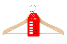 Wooden Clothes Hanger And Dres...