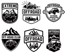 Set Of Four Off-road Suv Car E...