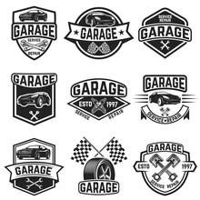 Set Of Vintage Car Service Lab...