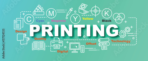 printing vector trendy banner Slika na platnu