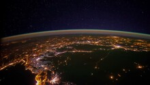 City Lights Over Middle East. ...