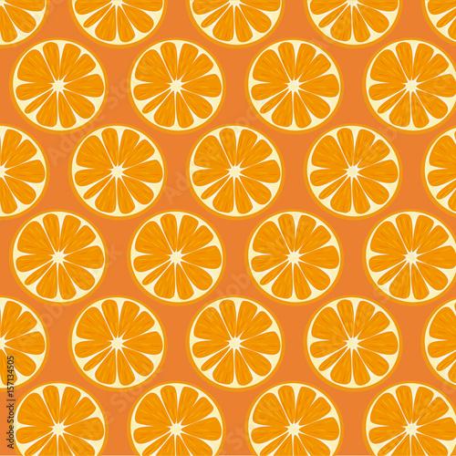 Foto op Aluminium Vruchten Orange Pattern Vector Illustration background.