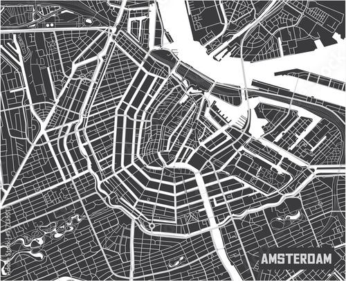 Fototapeta Amsterdam mapa-miasta-amsterdam