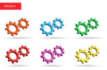 3d Cog Wheels Vector Gears