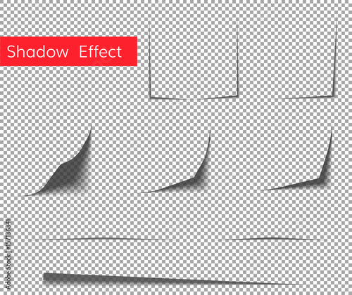 paper sheet shadow effect vector