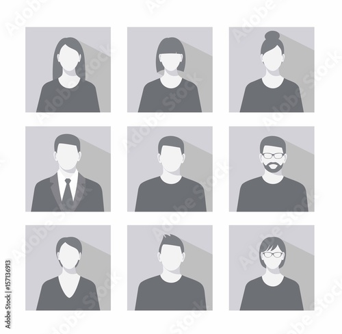 Fotografía  Avatar profile picture icon set including male and female