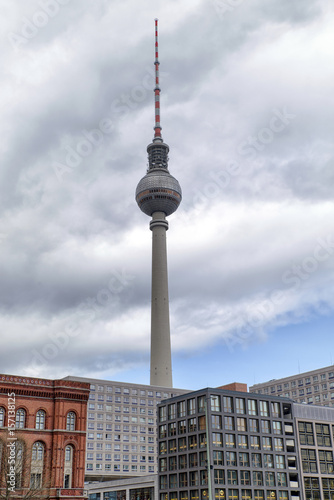 Television tower n Berlin, Germany Poster