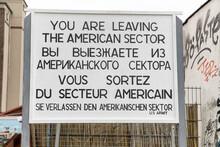 Information Board At East Side Gallery. Berlin Wall., Germany