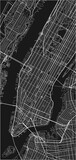 Black and white vector city map of New York with well organized separated layers. - 157138970