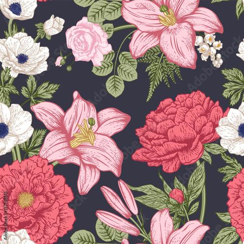 kwiaty-czerwone-rozowe-i-biale-na-ciemnym-tle