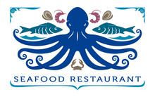 Seafood Logo, Template, Label,...