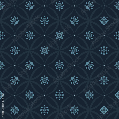 Modern Stylish Floral Flower Pattern For Textile Wallpaper Fills Covers Surface